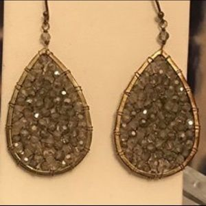 Top Shop NWOT dangle Druzy earrings Nordstrom NEW